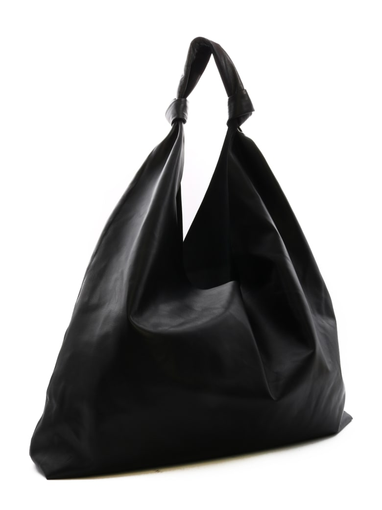 The Row Bindle Two In Leather - Black