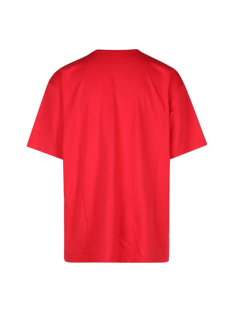 Balenciaga Boxy T-shirt Your Logo Vintage - Ruspberry White
