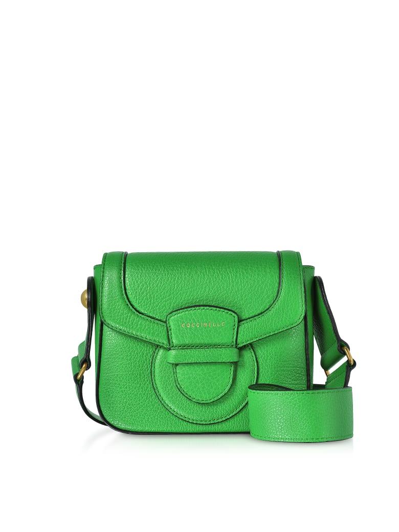 Coccinelle Vega Small Leather Shoulder Bag - Green