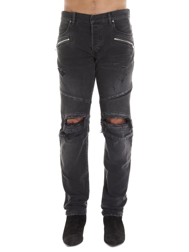Balmain 'biker' Jeans - Grey