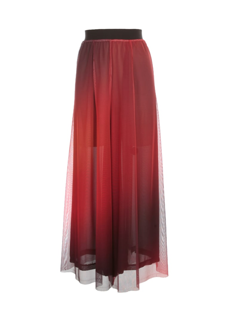 Maria Calderara Pants Sensational Printed Tulle Georgette - Flame Print Black