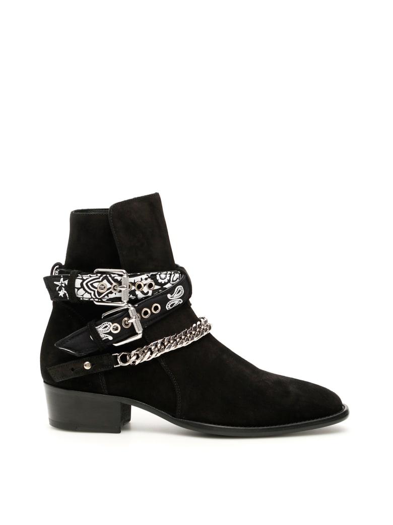Amiri Amiri Bandana Buckle Boots Black Black