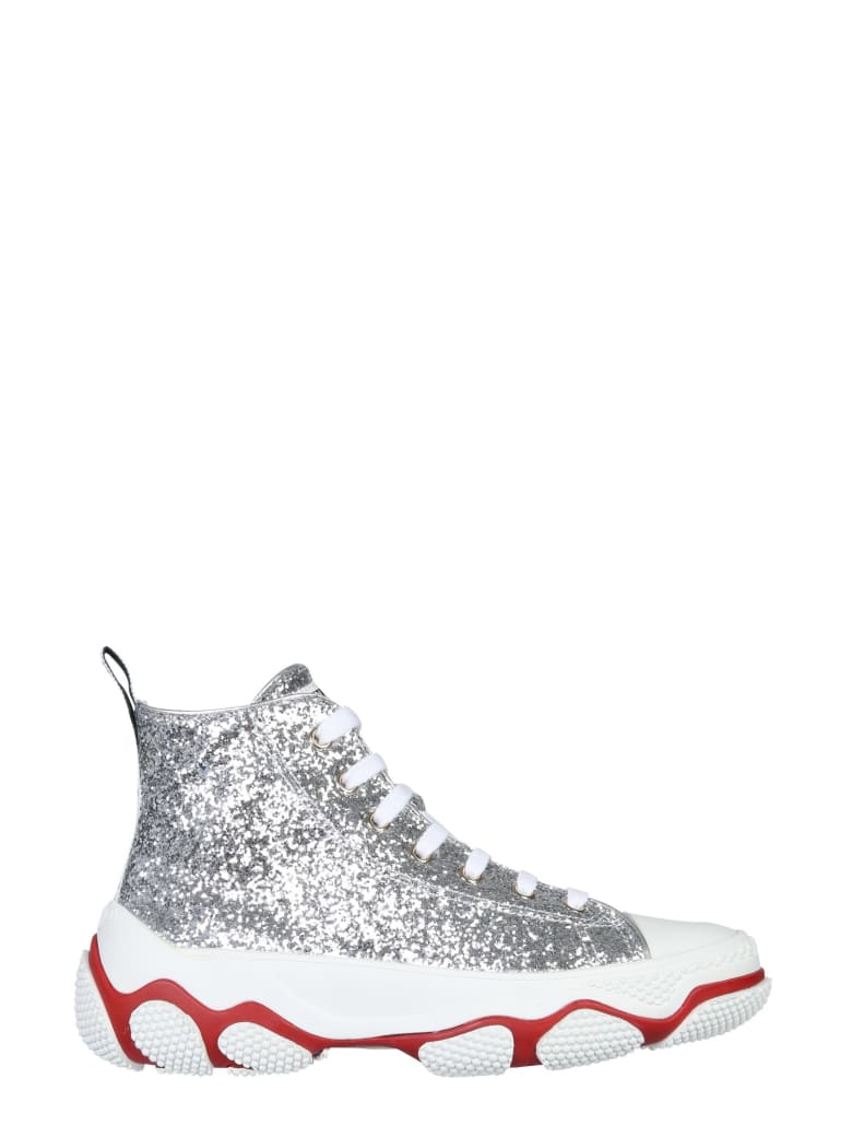 RED Valentino Glam Run Sneakers - ARGENTO