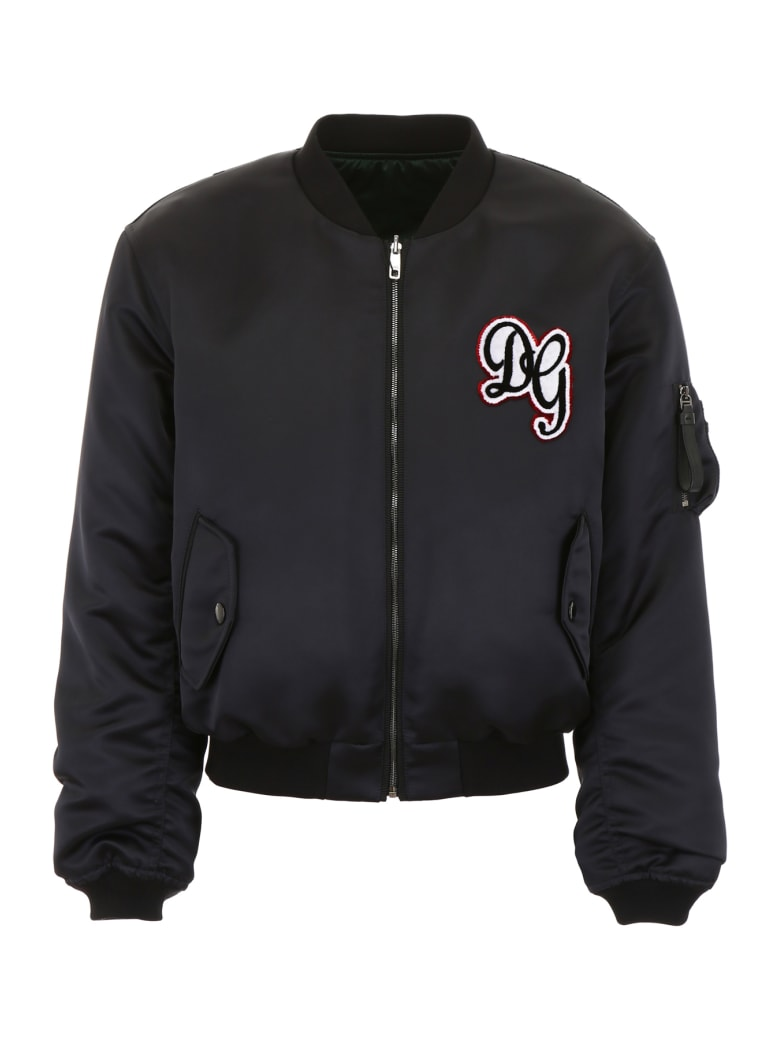 Dolce & Gabbana Dg Logo Bomber Jacket - NERO (Black)