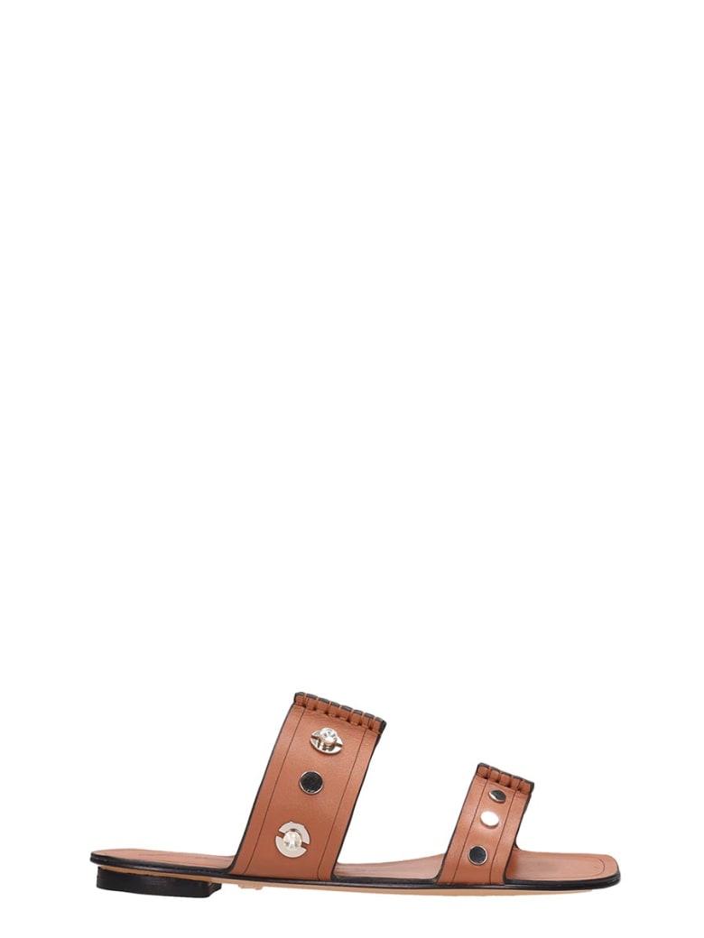 Lola Cruz Browne Leather Flats Sandals - leather color