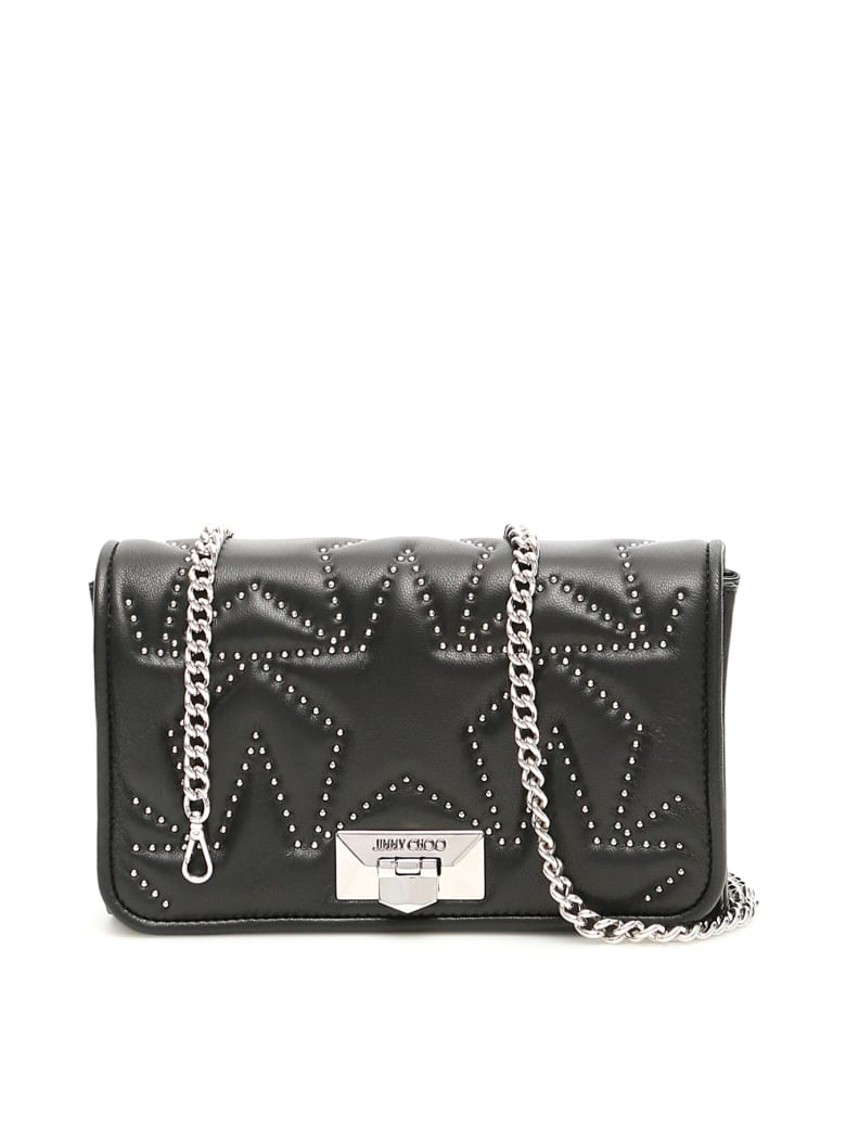 Jimmy Choo Studded Helia Clutch - BLACK (Black)