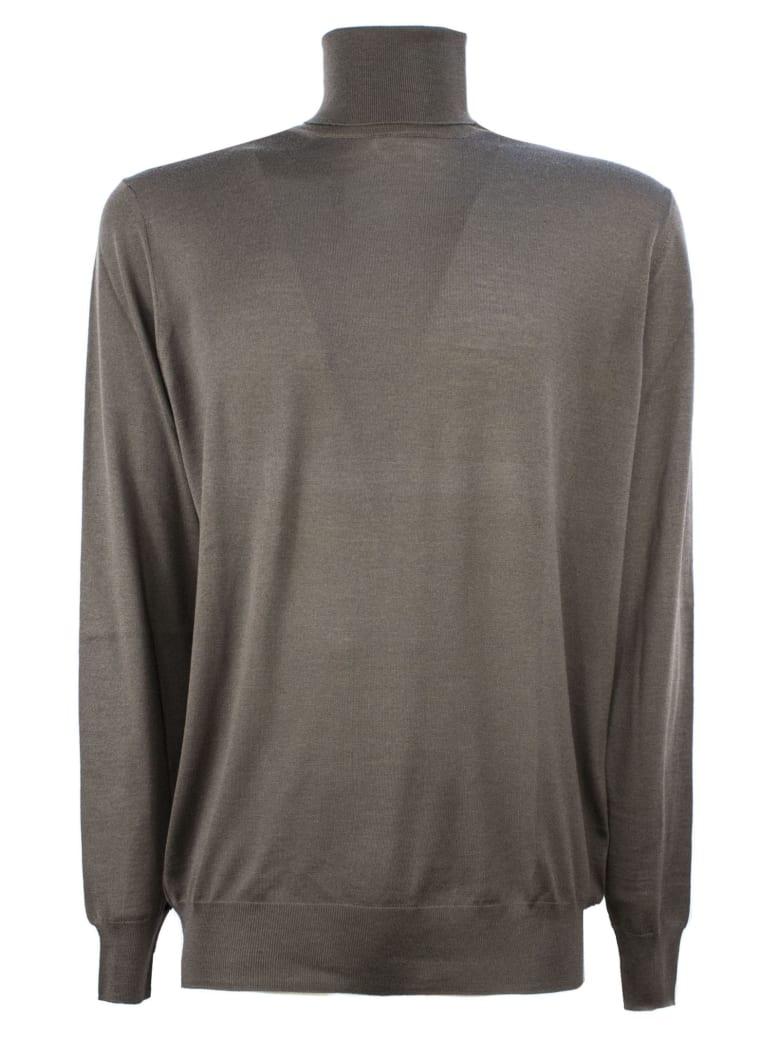 Drumohr Brown Merino Wool Sweater - Marrone