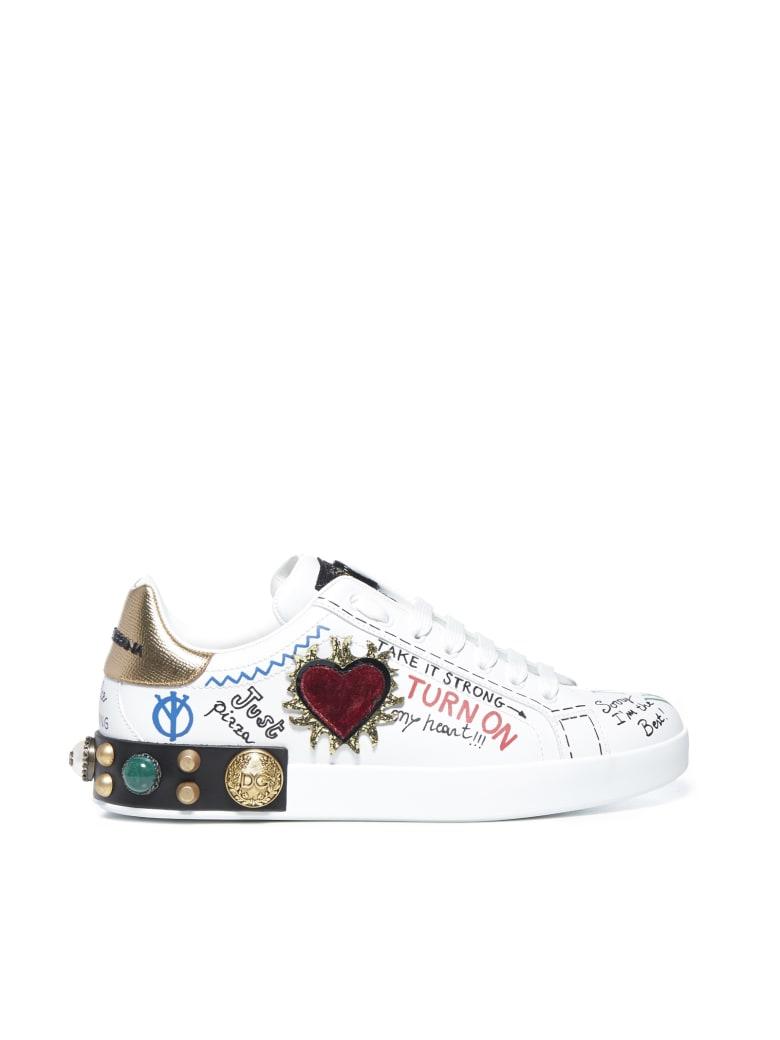 Dolce & Gabbana Sneakers - Bianco oro fume