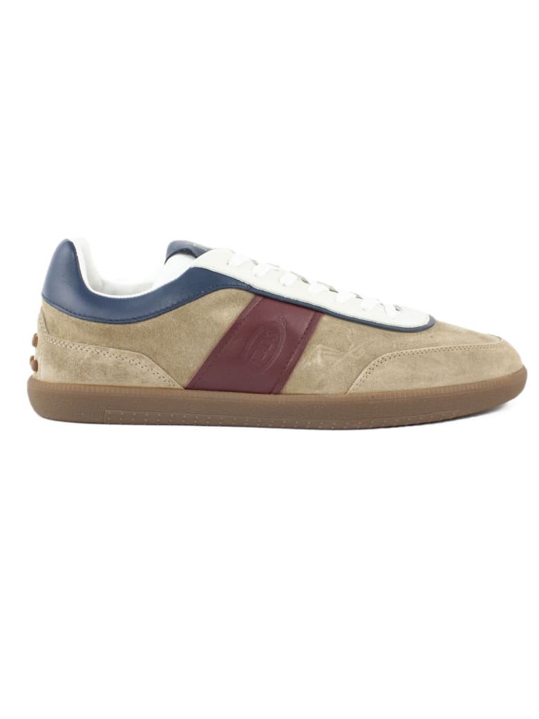 Tod's Sneakers In Brown Suede - Tricolore