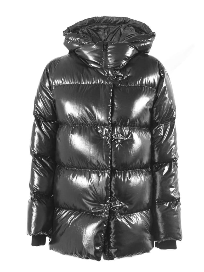 Fay 3 Hooks Black Down Jacket - Nero