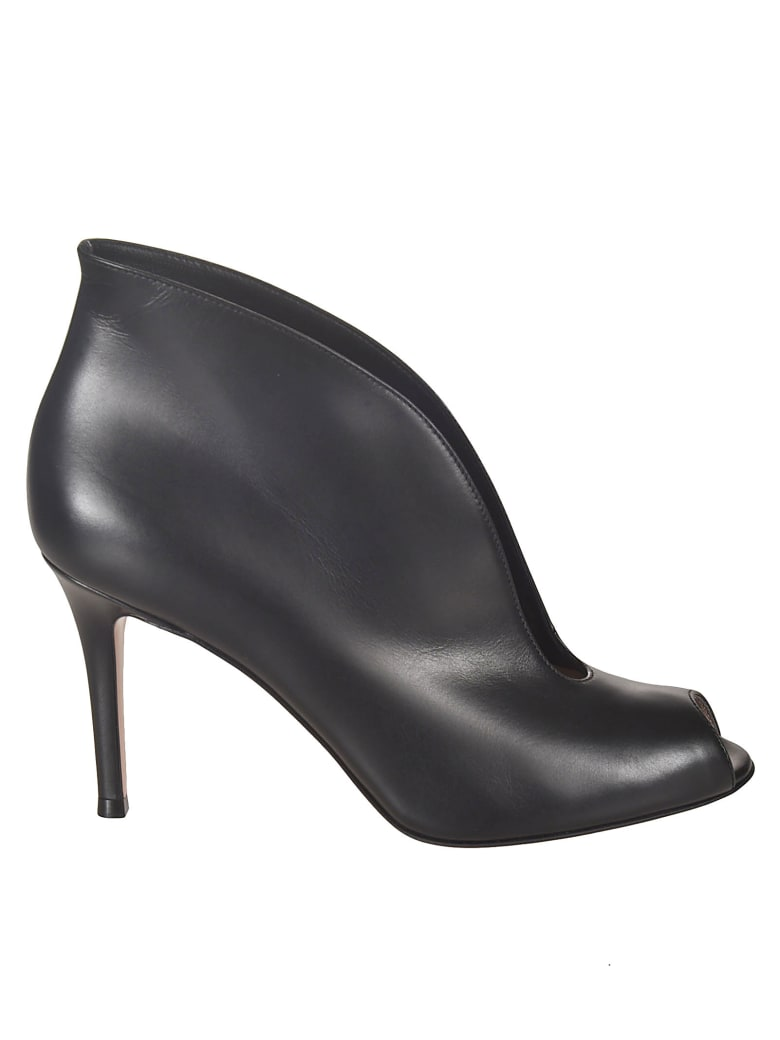 Gianvito Rossi Exposed Toe Boots - Black
