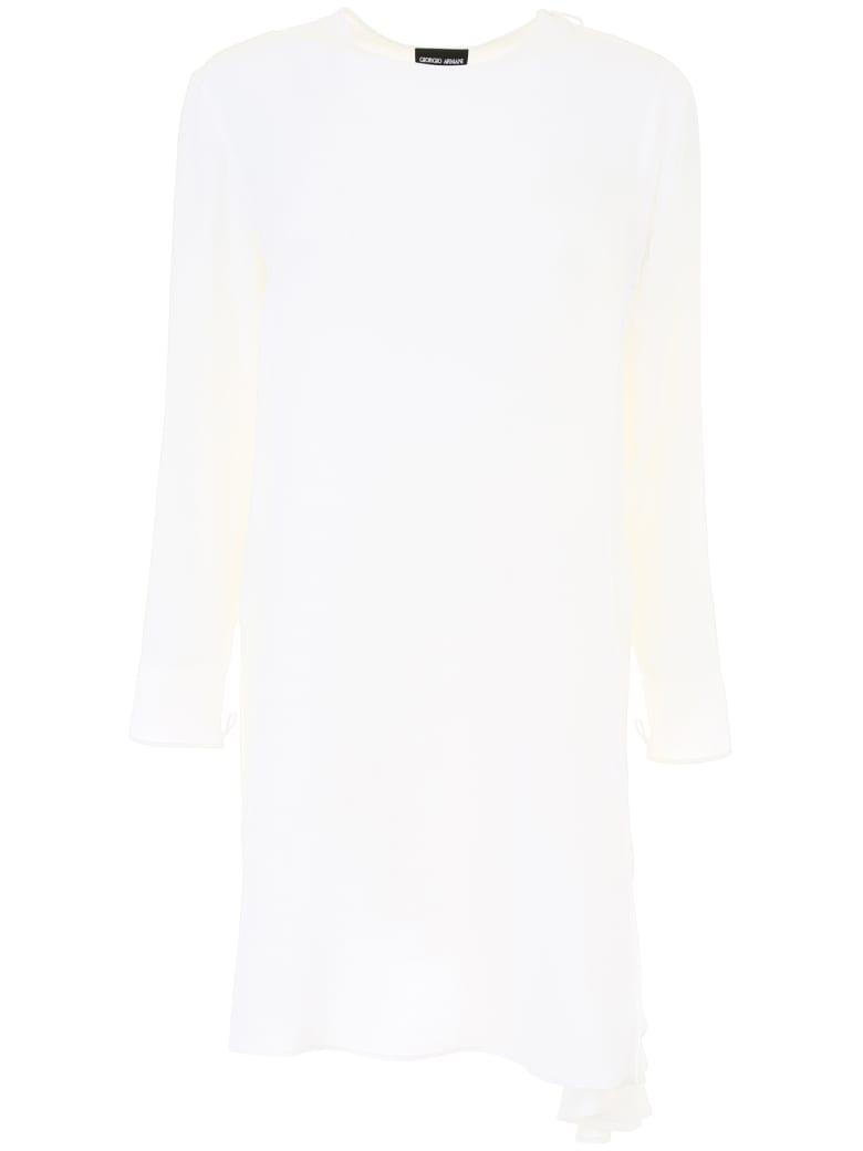 Giorgio Armani Silk Tunic Shirt - BIANCO (White)