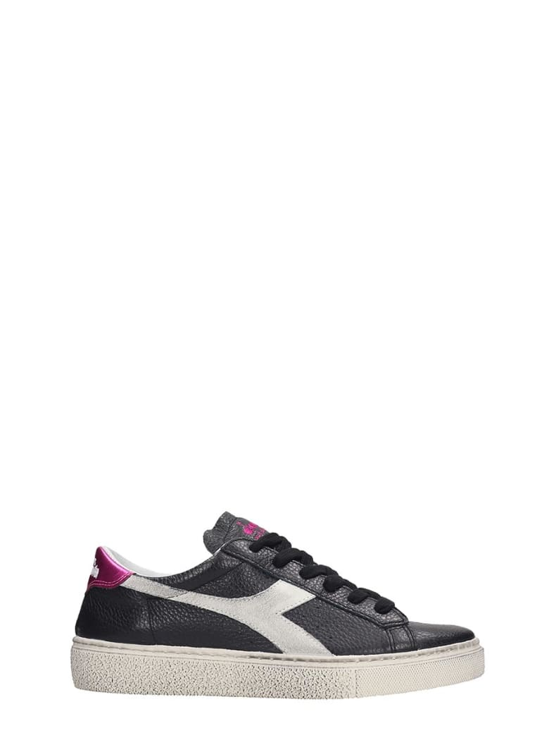 Diadora Montecarlo  Sneakers In Black Leather - black