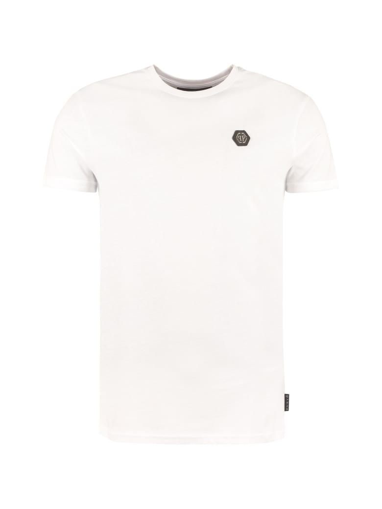 Philipp Plein Cotton Crew-neck T-shirt - White