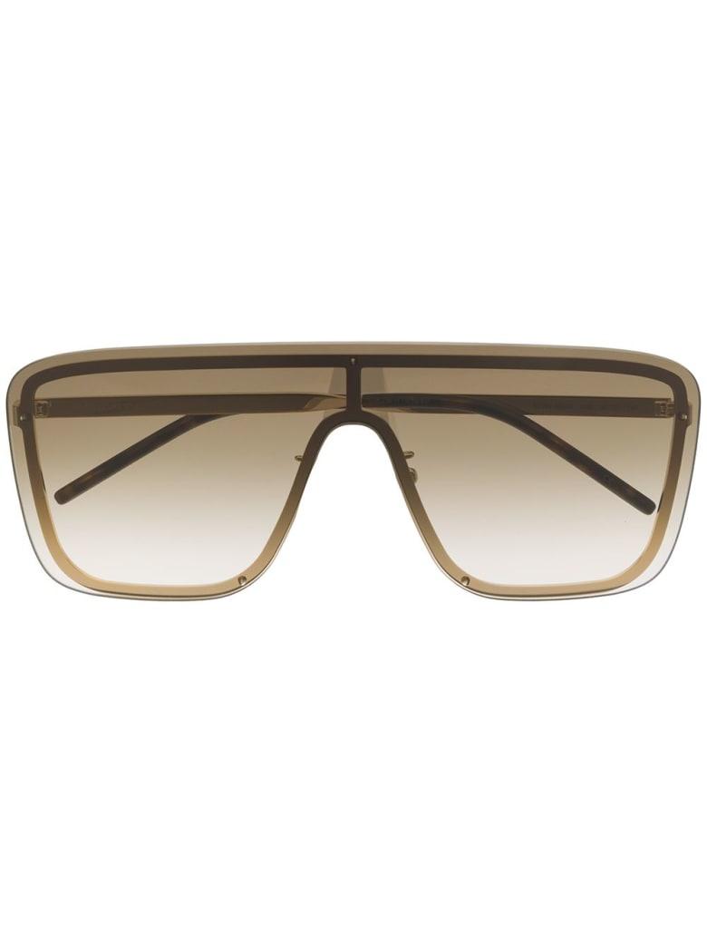 Saint Laurent Brown Gold Woman Sl 364 Sunglasses