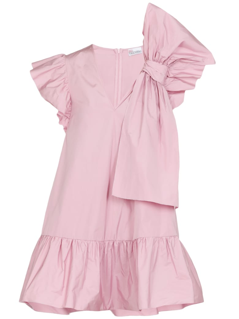 RED Valentino Taffeta Dress With Bow - ROSE BABY