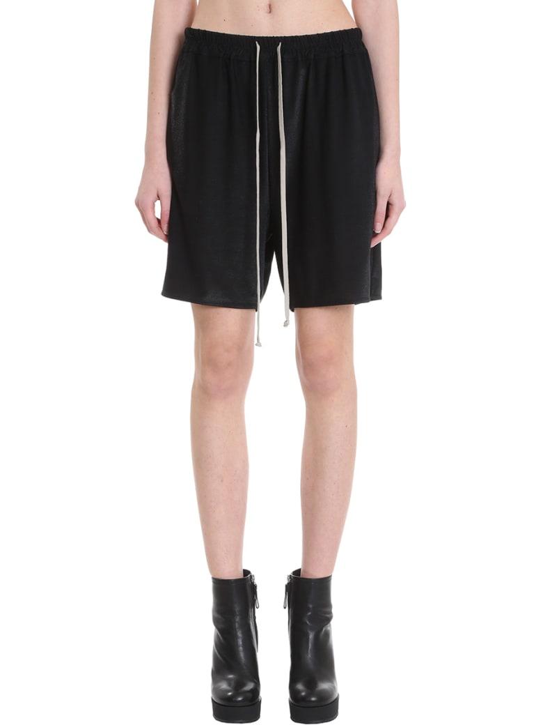 Rick Owens Lilies Shorts In Black Viscose - black