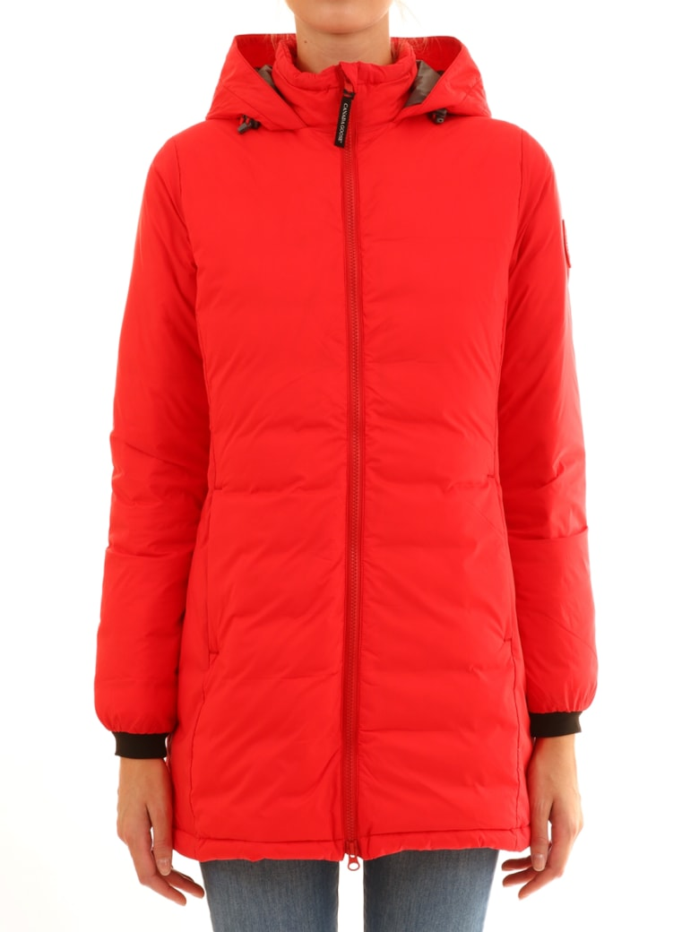 Canada Goose Long Down Jacket Red - Red