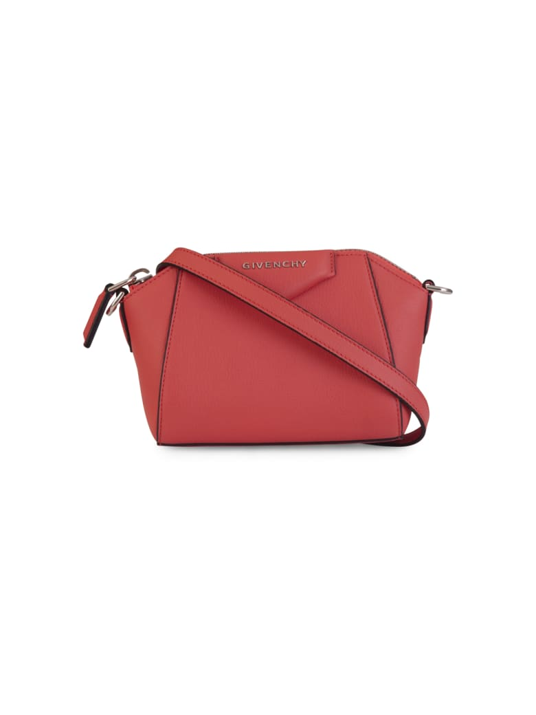 Givenchy 'antigona' Nano Crossbody Bag - ROSSO