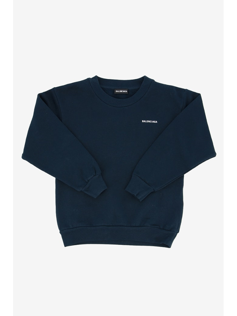 Balenciaga Sweatshirt With Logo - Blu