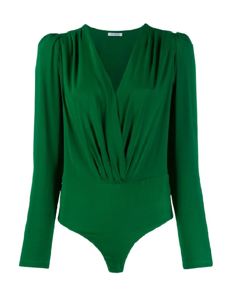 Parosh Senver Silk Seta Scollata - Green