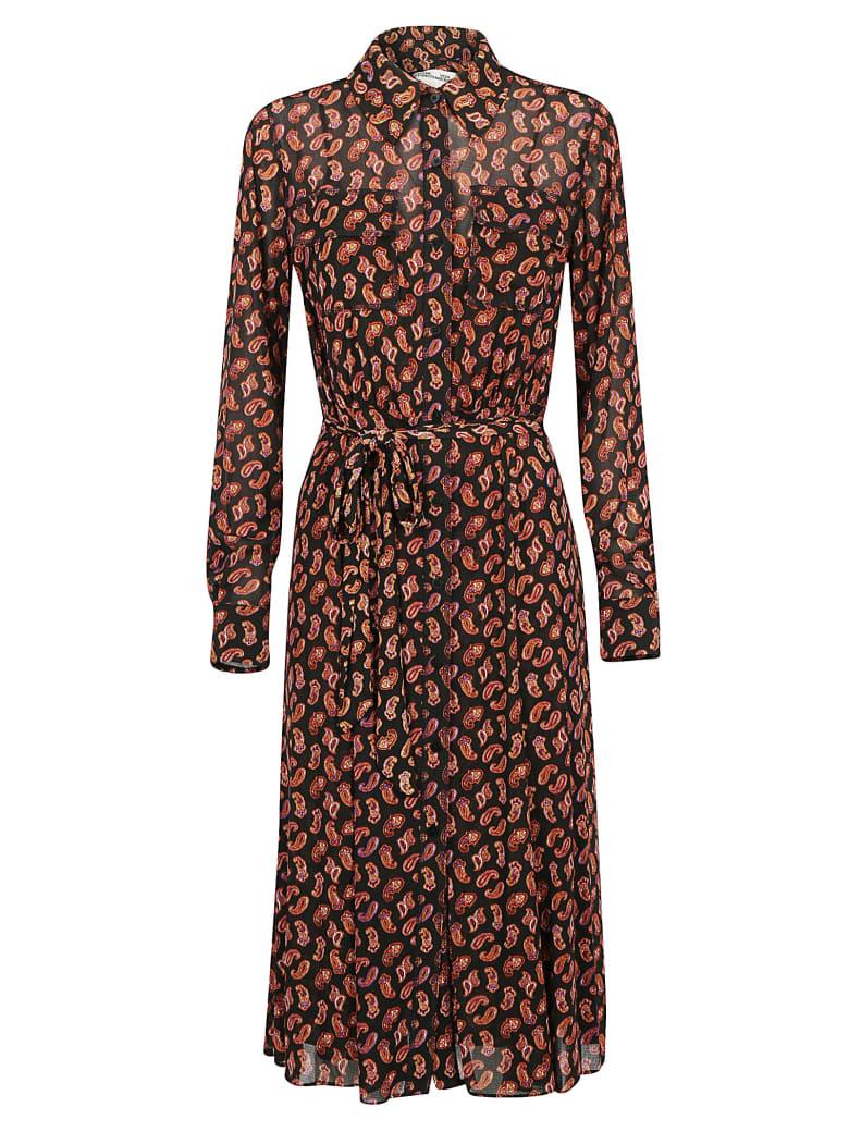 Diane Von Furstenberg Antonette Dress - Tie paisley black