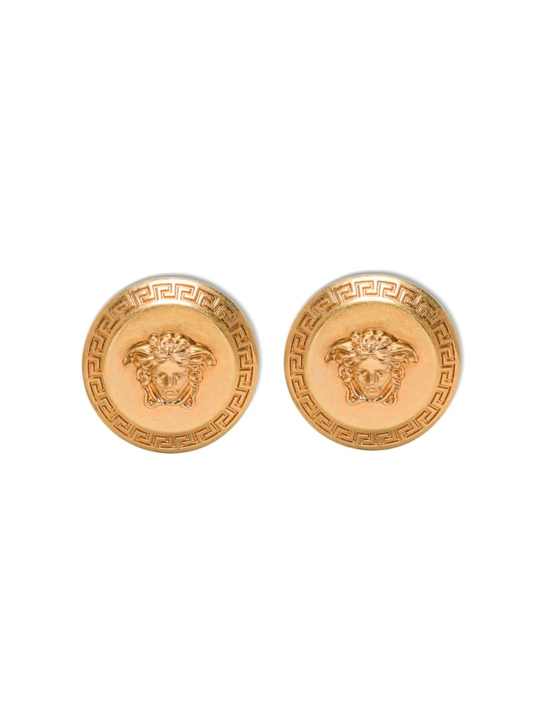 Versace Medusa Metal Earrings - Metallic
