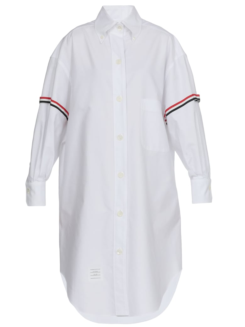Thom Browne Shirt With Tricolor Details - WHITE