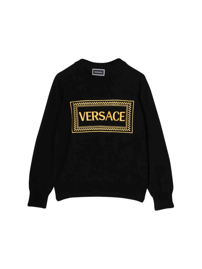 Young Versace Embroidery Sweater - Nero