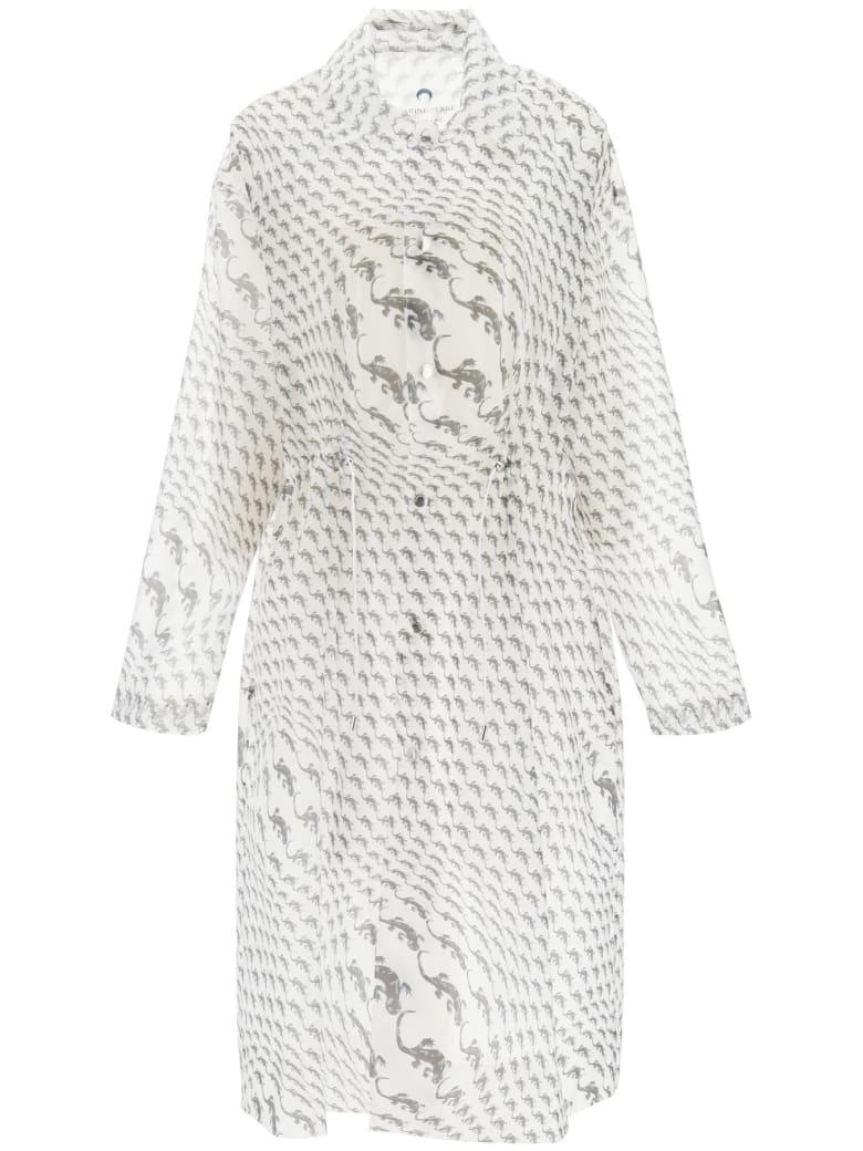 Marine Serre Printed Raincoat - WHITE