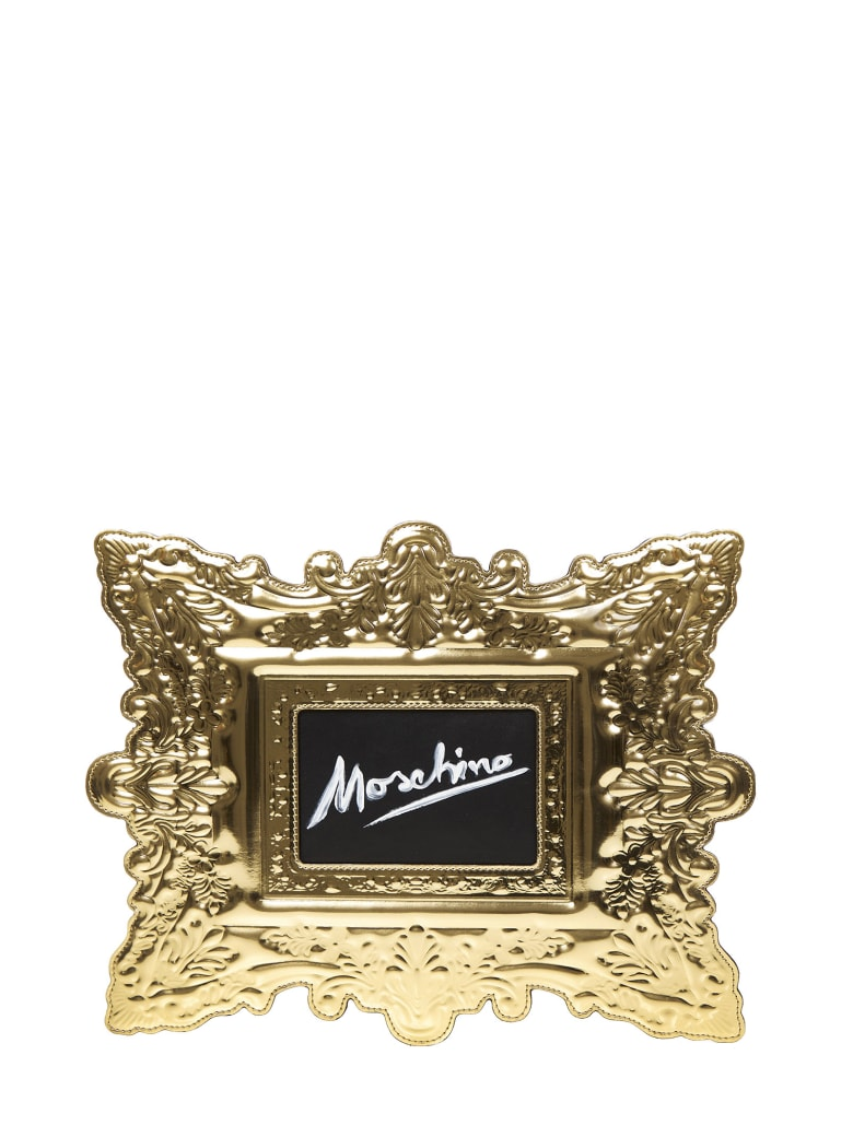 Moschino Frame Clutch - Gold