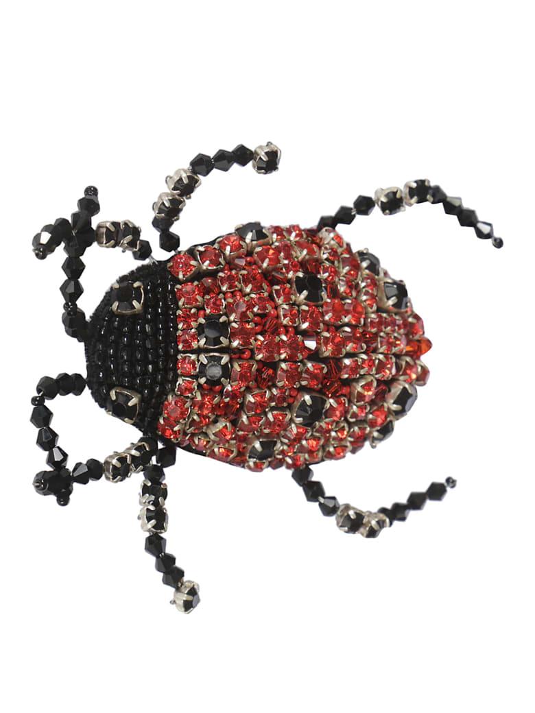 Rochas Ladybug Brooch - Red