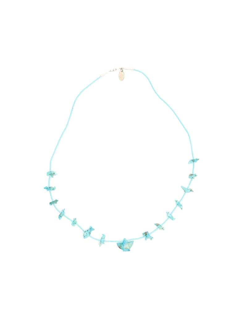 Jessie Western Turquoise Power Animal Necklace - TURQUOISE (Light blue)