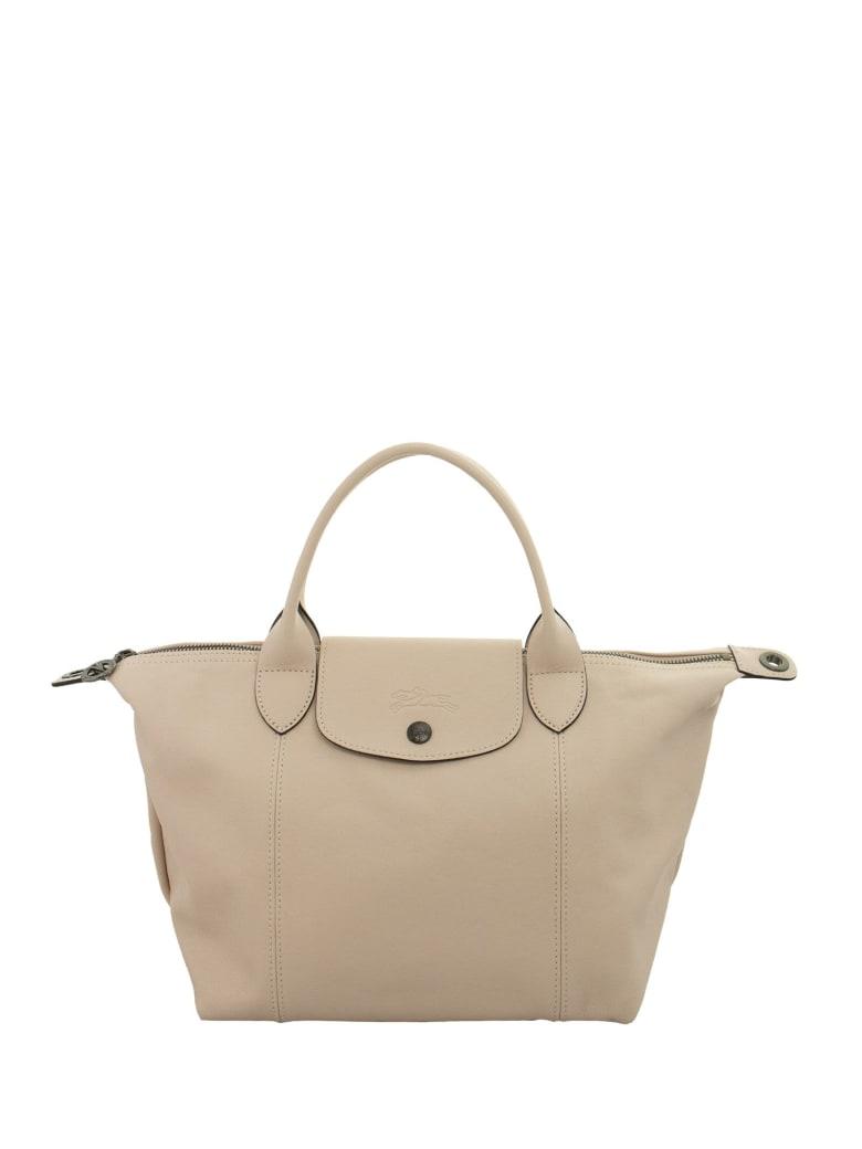 Longchamp Le Pliage Cuir - Top Handle Bag S - Pale Pink