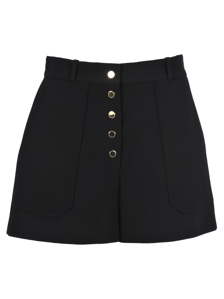 Stella McCartney Gold Button Shorts - BLACK