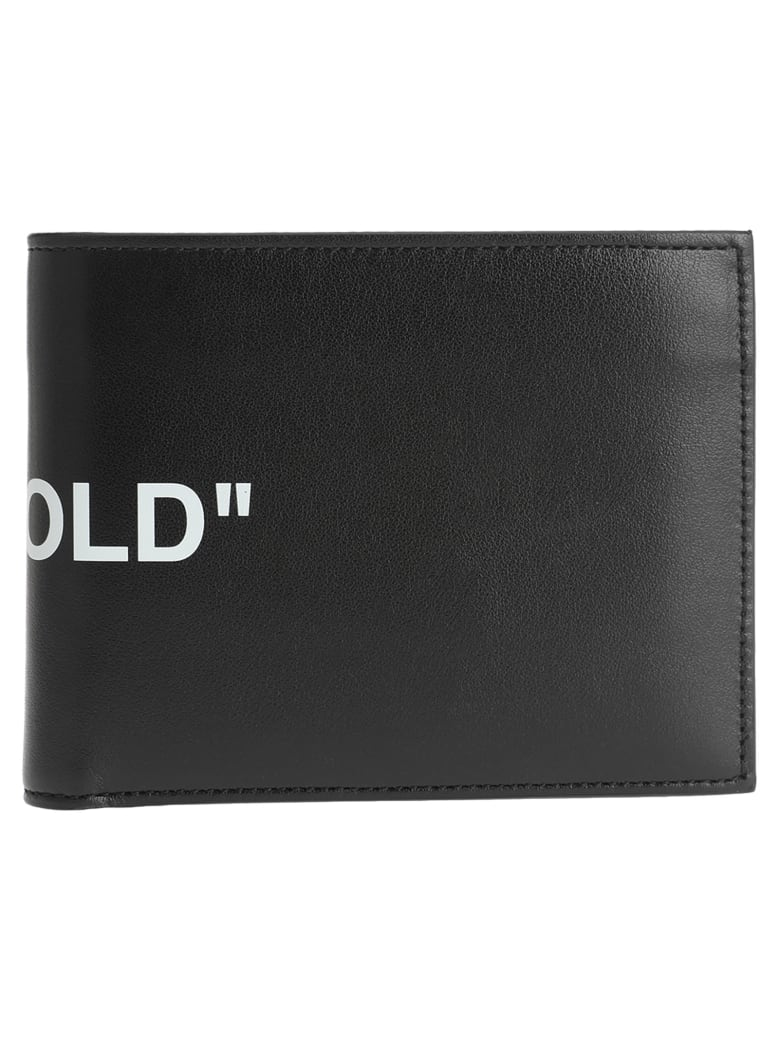 "Off-White Off White ""bi-fold"" Quote Wallet - BLACK"