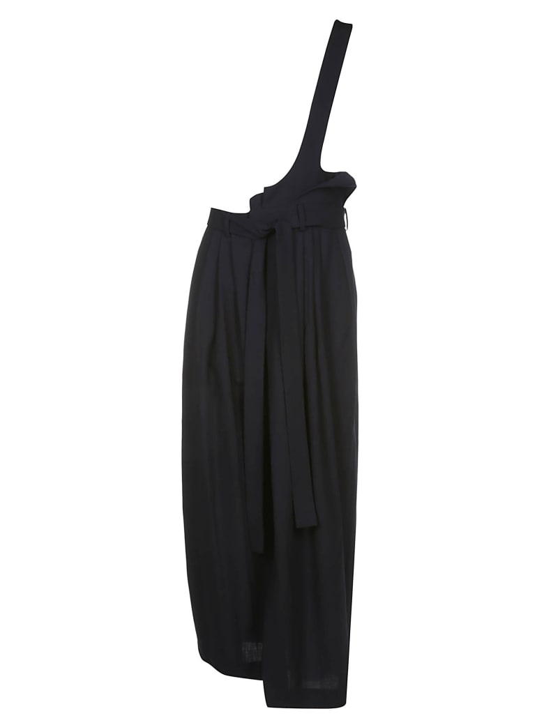 Enföld One Shoulder Strap Skirt - Dark navy