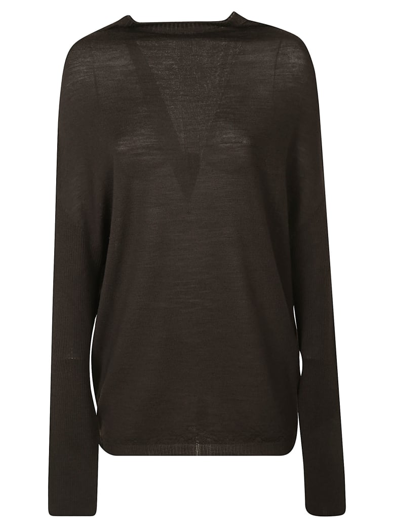 Rick Owens Crater Knit Pullover - Powder