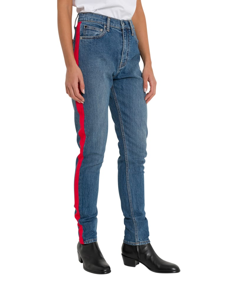 Calvin Klein Jeans Ckj 020 High Rise Slim Taped Jeans - Blu