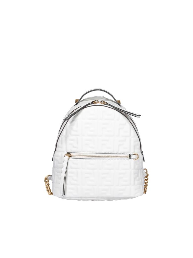 Fendi Ff Mini Backpack - Bianco