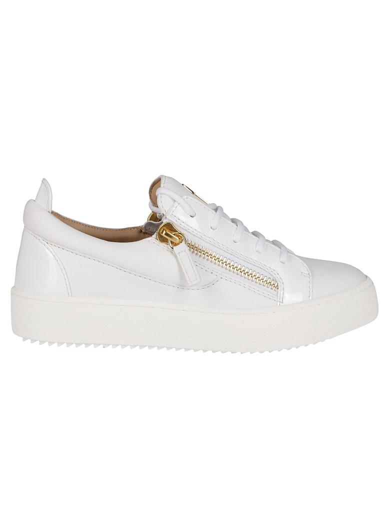Giuseppe Zanotti White Leather Sneakers - White