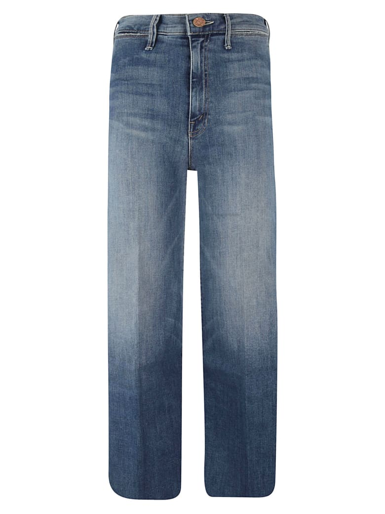 Mother Wide Leg Cropped Trousers - Jeans