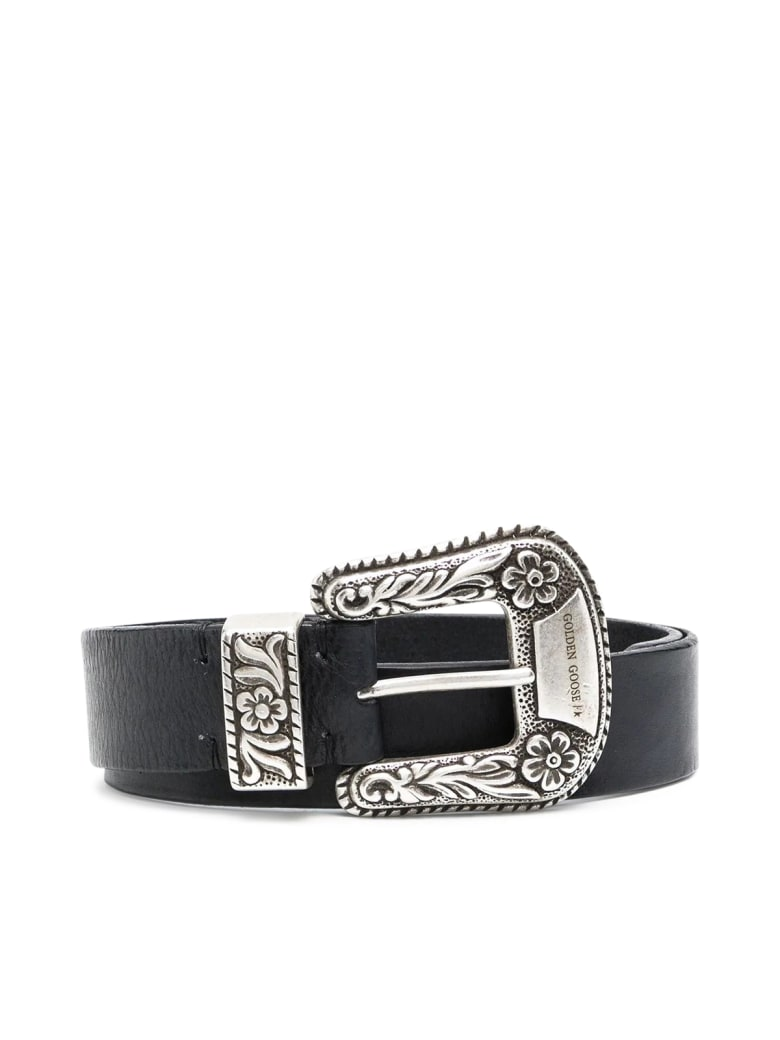 Golden Goose Belt Lace Washed Leather - Black
