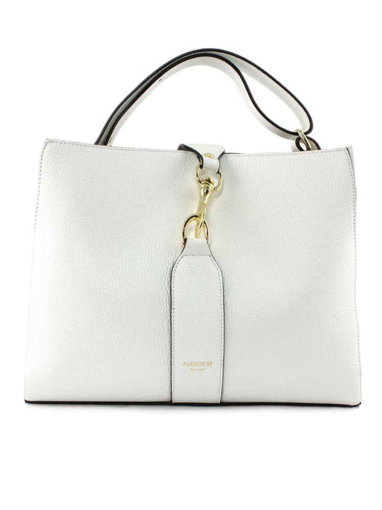 Avenue 67 Annetta White Leather Bag - Bianco