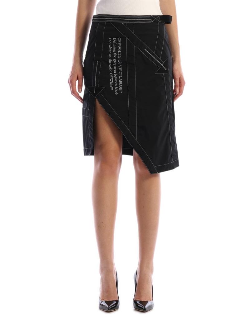 Off-White Black Nylon Skirt - Black white