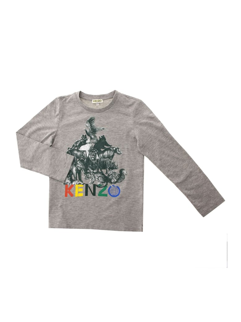 Kenzo Crazy Jungle Tee - Grigio
