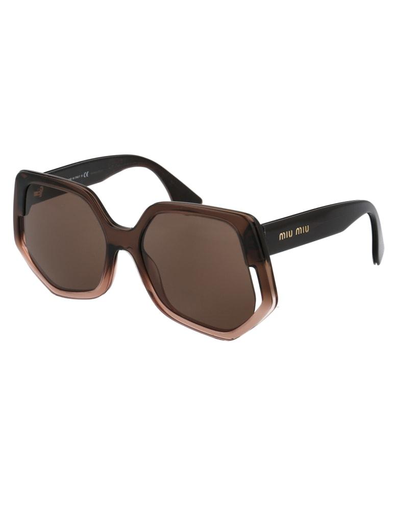 Miu Miu 0mu 07vs Sunglasses - 02D06B BROWN GRADIENT TRASPARENT