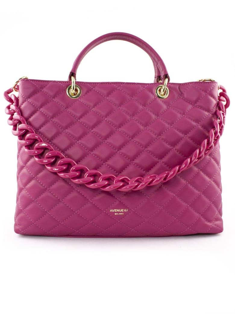 Avenue 67 Violante Bag In Fuchsia Leather - Fuxia