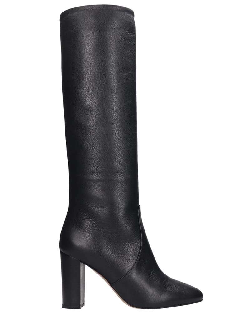 The Seller Boots In Black Leather - black