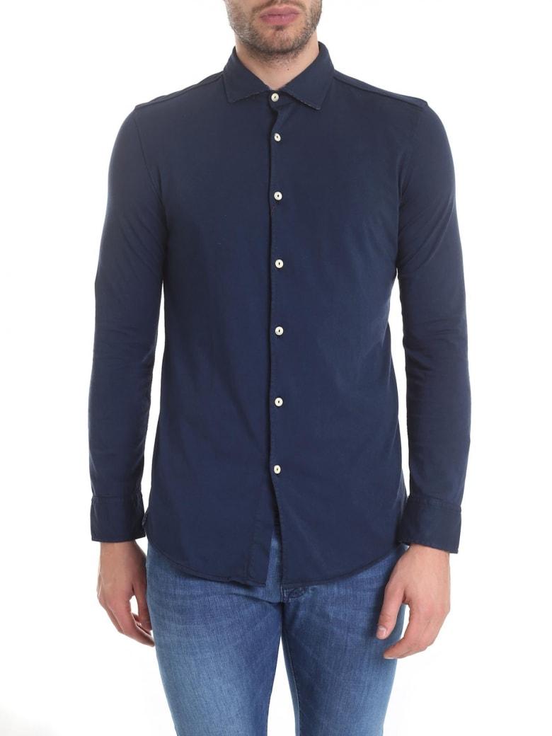 Drumohr Polo Shirt Cotton - Blue